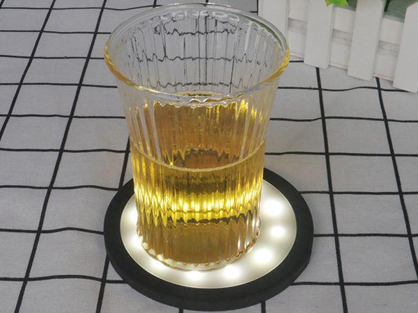 led灯硅胶杯垫,创意防烫水杯垫-硅胶垫