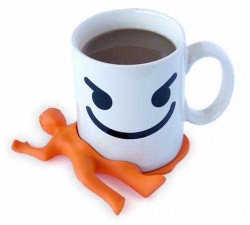 压扁小人硅胶咖啡杯垫,创意配饰水杯垫-硅胶垫