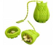 猫头鹰硅胶茶漏,创意硅胶泡茶过滤器_硅胶用品
