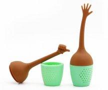 长款硅胶泡茶器,散茶硅胶便携茶滤_硅胶用品