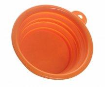 大号硅胶折叠泡面碗,可伸缩硅胶辅食餐具