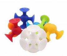 婴幼儿硅胶吸盘积木宝宝早教益智硅胶玩具
