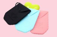 硅胶口罩收纳袋_便携式儿童口罩存放包