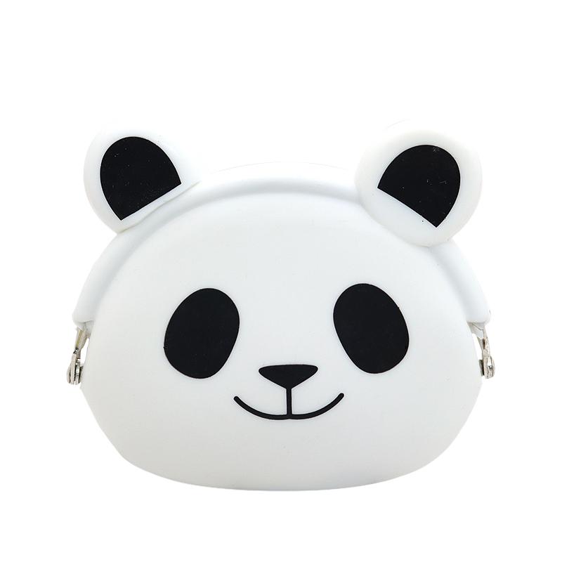 熊猫硅胶零钱包-创意小巧零钱包